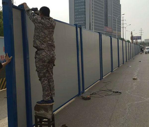 武汉PVC围挡安装施工现场
